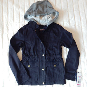 Limited Too Girls Hooded Twill Jacket Black
